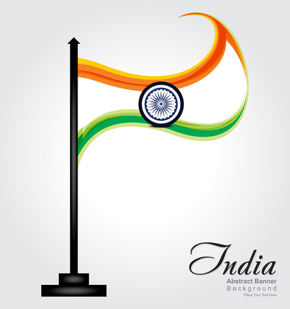 ashok: abstract indian flag background vetor illustration
