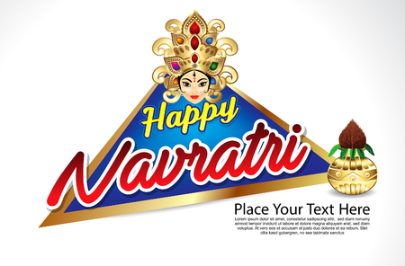 celebration background: happy navratri celebration background vector illustration