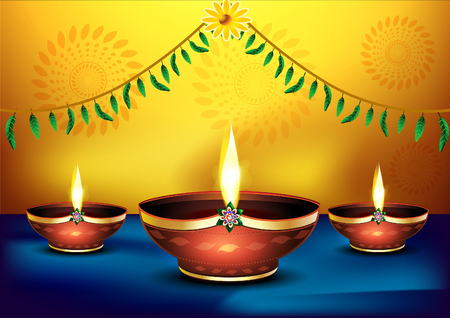 mangal: happy diwali celebration background vector illustration