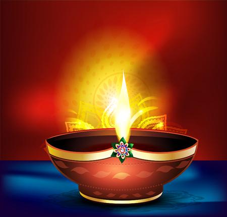 deepak: diwali celebration background with vector deepak vector illustration Illustration