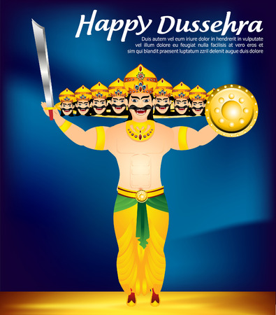 ramayan: dussehra celebration background vectpr illustration Illustration