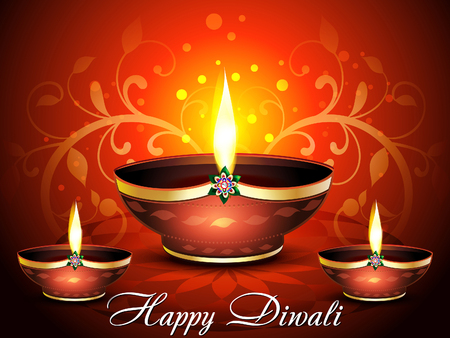 deepak: happy diwali celebration background vector illustration