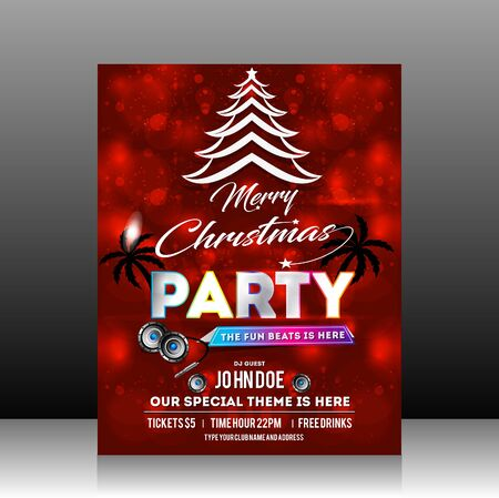 party design: Christmas Party Flyer Design vector illustration Illustration