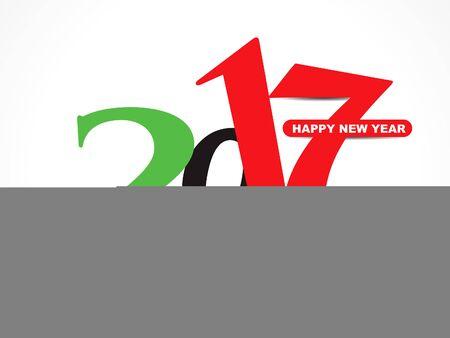 new yea: happy new year 2017 stylish text background vector illustration Illustration