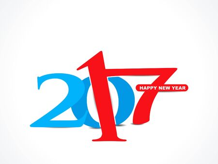 yea: colorful happy new year 2017 text background vectpr illustration