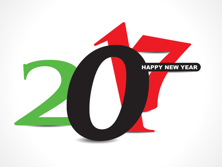 abstract 2017 happy new year graphic text style vector illustration