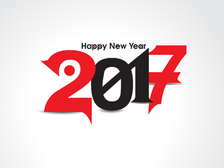 red and black: happy new year text background with red & black color vector illustration Illustration