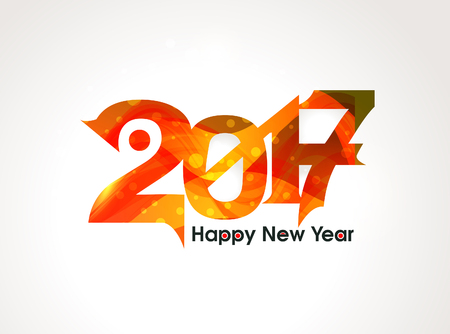 new yea: Abstract  happy new year text background vector illustration