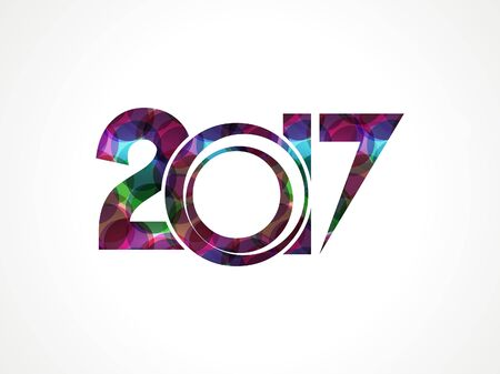 new yea: abstract colorful happy new year background vector illustration
