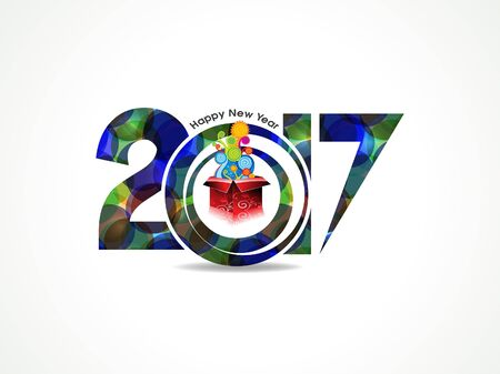new yea: abstract colorful happy new year background with magic box vector illustration