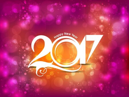 happy new year 2017 celebration background vector illustration