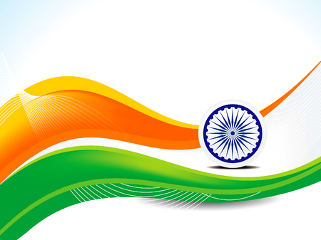 26 january Republic day wave concept background vector illustration