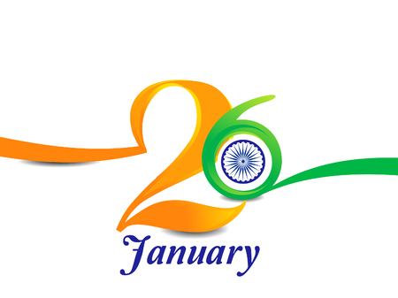 asoka: indian republic day text background vector illustration Illustration