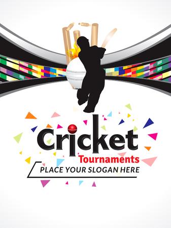cricket stump: cricket banner explode background
