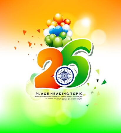 happy inidan republic day explode with text
