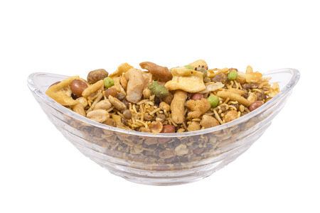 sev: isolated traditional indian navratan mixture namkeen image