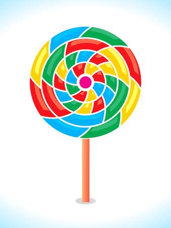 curle: Colorful vector lollipop or rainbow swirl.