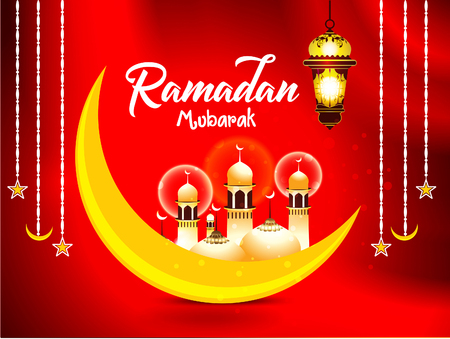 Ramadan mubarak islamic background vector illustration
