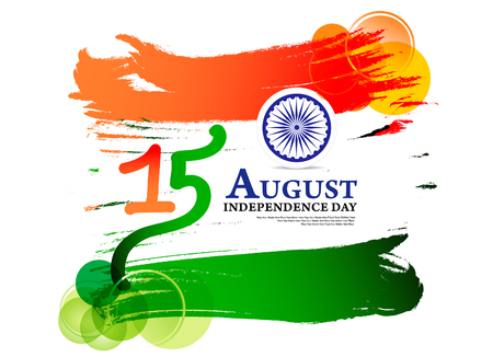 Happy Indian Independence Day Background vector illustration Illustration