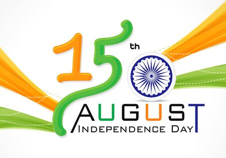 15 th of August Indian Independence Day vector illusration