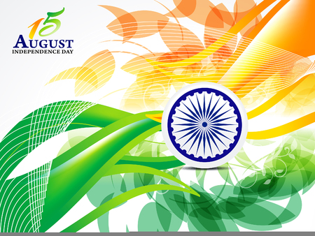 asoka: Indian Independence Day Explode  Abstract Background vector illustration