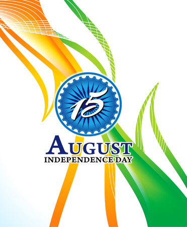 asoka: 15 August Indian Independence Day Background vector illustration