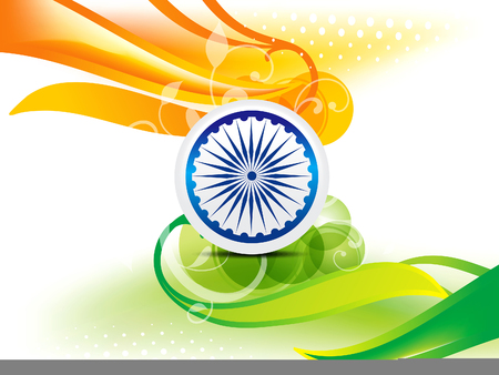 asoka: Indian Independence Day Wave Abstract Background With Bubble