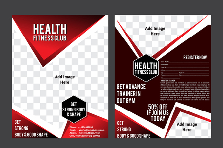 Health Fintess Club Flyer Template vector illusteration