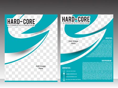 body fitness or gym flyer template design vector illustration