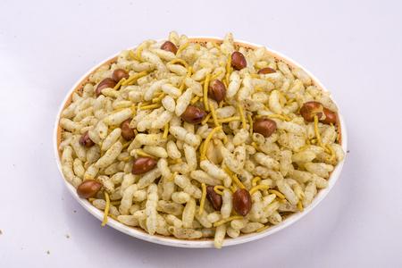 traditional indian bhelpuri,bhel or namkeen