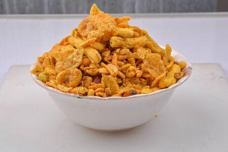 traditional indian spicy mixture namkeen