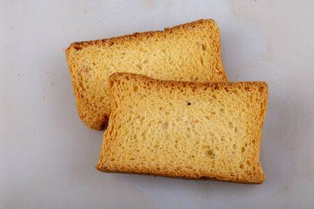 isolate milk toast or rusk .jpg Stok Fotoğraf