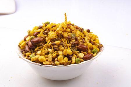 traditional indian navratan mixture namkeen