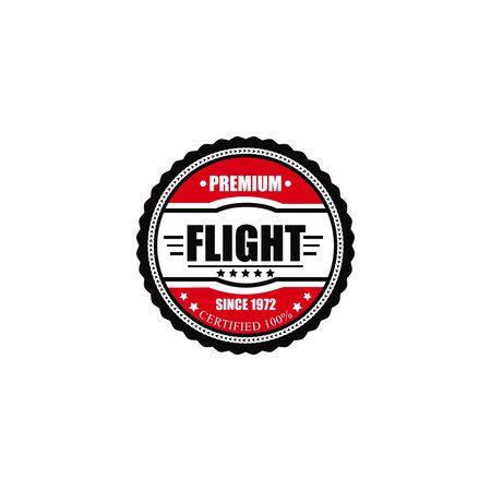 aeronautic: Vintage airplane label, emblem and symbol. Aviation stamp.