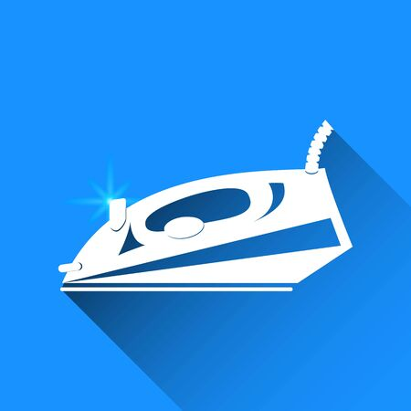 iron: steam iron vector icon