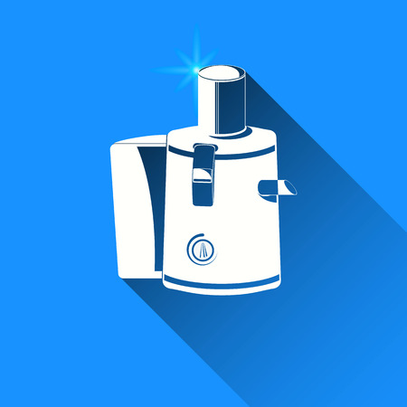 juice extractor: juicer on blue background