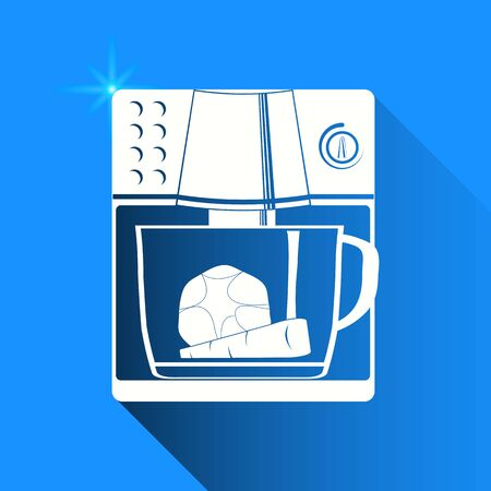 food processor: food processor on blue background Illustration
