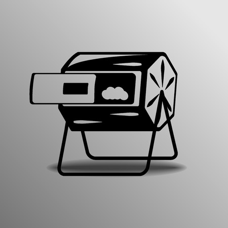 scrapyard: Trash can. Vector illustration over white