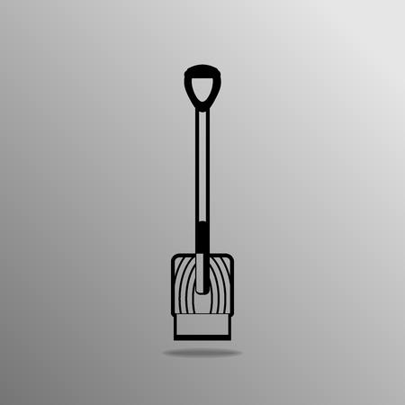 scraper: scraper shovel icon on a gray background Illustration