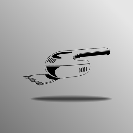trimmer: Grass Trimmer on a gray background