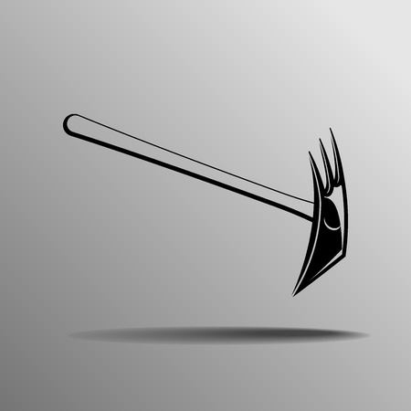 extreme close up: Ice axe on a grey background Illustration