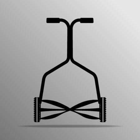 push mower: Economy Light Model Reel Mower on the grey Illustration