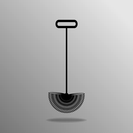 pecan: black Pecan Picker-Upper on the grey background