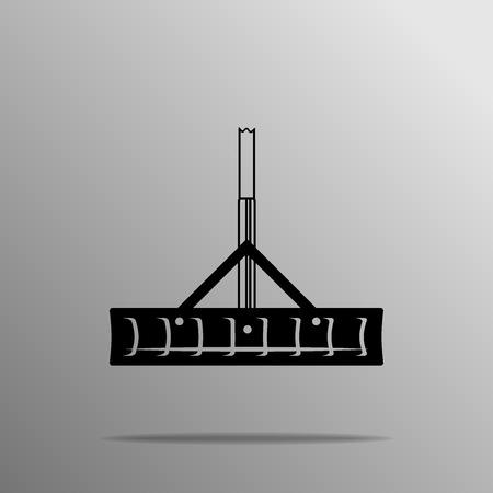 scraper: black Barn Scraper With Handle black icon