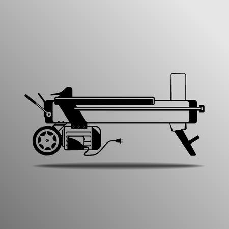 splitter: black log splitter on the grey background