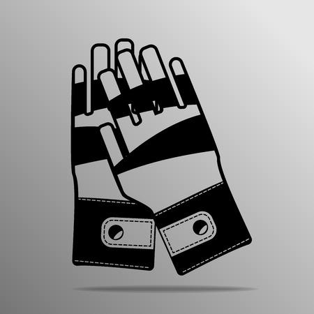 black Leather Palm on a grey background