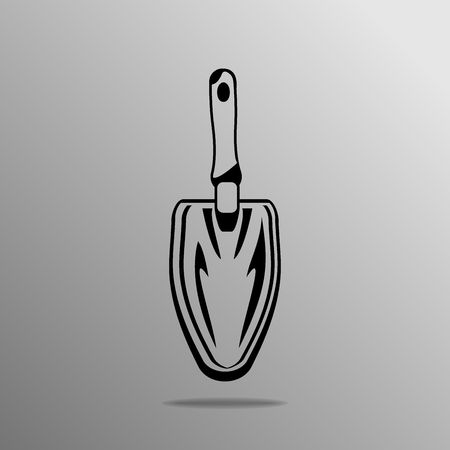 hand tool: Gardening Hand Tool on the grey background Illustration