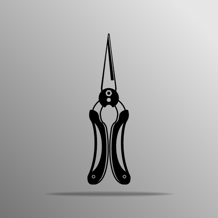 snip: Straight Snip, Stainless Steel black icon