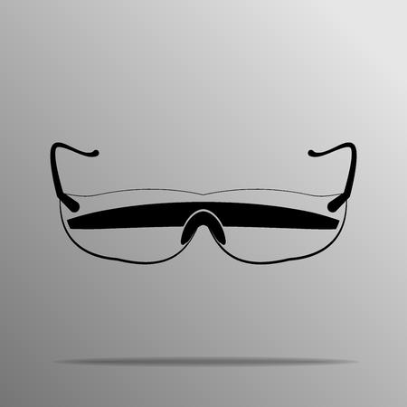eyewear fashion: Xtreme Protective Glasses on the grey background