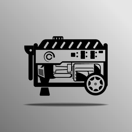 alternator: Portable Generator vector on the grey background